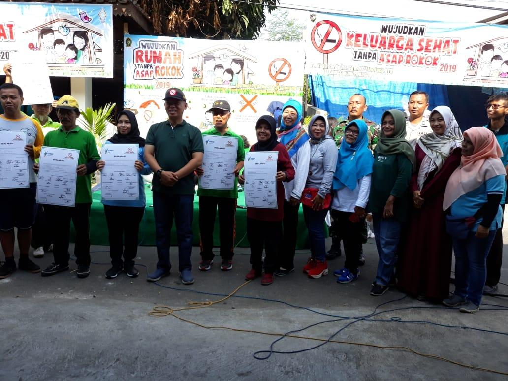 Deklarasi Kawasan Bebas Asap Rokok  RW 10 Kelurahan Rejowinangun