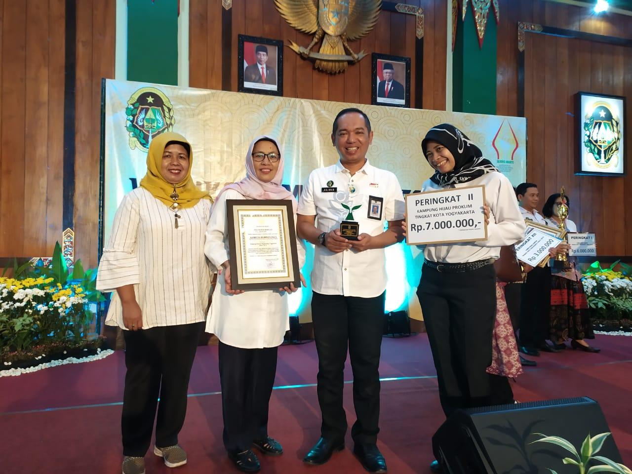 RW 08 Kelurahan Rejowinangun memperoleh Juara 2 Lomba Proklim se- Kota Yogyakarta