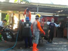 Kerjabakti Kesiapsiagaan Bencana Covid-19 di Kampung Rejowinangun