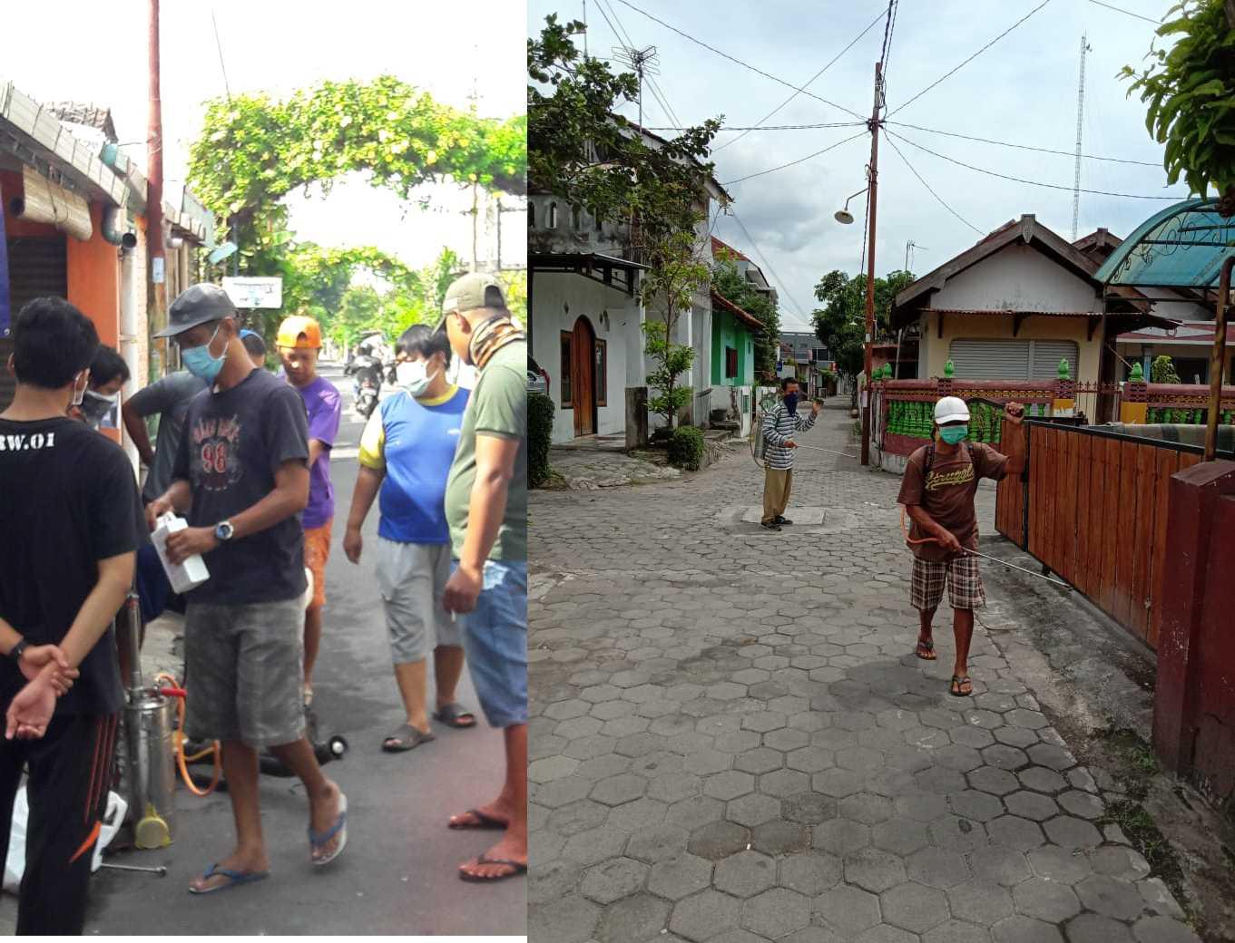Kerjabakti Kesiapsiagaan Bencana Covid-19 di Kampung Gedong Kuning