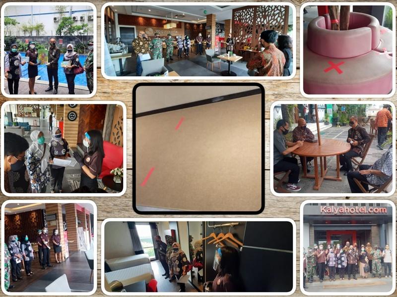 Verifikasi lapangan Penerapan Protokol Kesehatan Pelaku Usaha bidang Pariwisata Hotel Kalya di Kelurahan Rejowinangun