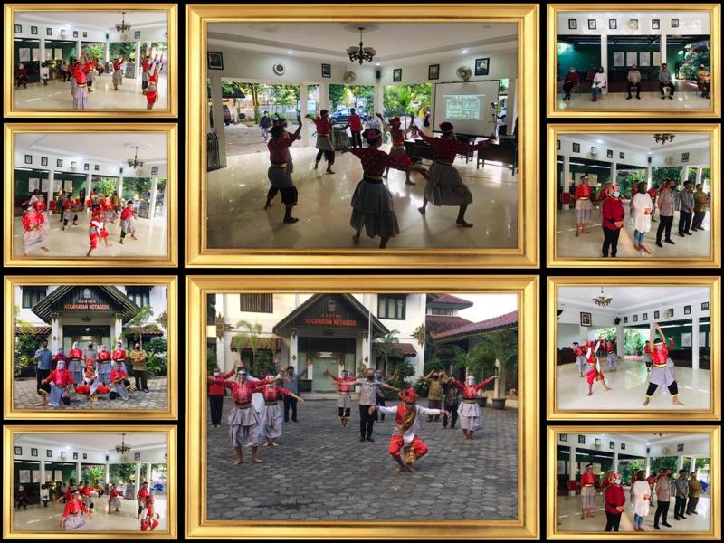 Sanggar Tari Sari Budoyo Kelurahan Rejowinangun mewakili Kecamatan Kotagede dalam Flashmob Tari Secara Online HUT Ke-264 Kota Jogja