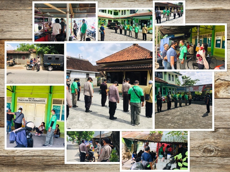 Operasi Yustisi di Wilayah Kelurahan Rejowinangun Kecamatan Kotagede Jum'at, 16/10/2020