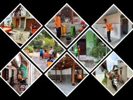 Kerjabakti Kesiapsiagaan Bencana Covid-19 di Kampung Pilahan