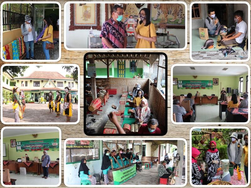 Simulasi Kampung Wisata Kelurahan Rejowinangun menerima kunjungan wisatawan dengan Adaptasi Kebiasaan Baru