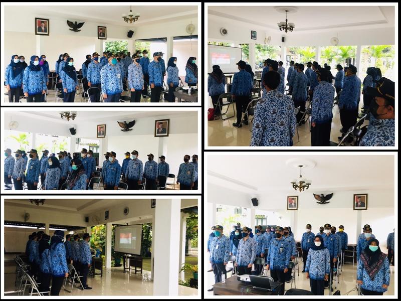 Kelurahan Rejowinangun ikut serta dalam Upacara Virtual Pemerintah Kota Yogyakarta Tgl. 17 Februari 2021