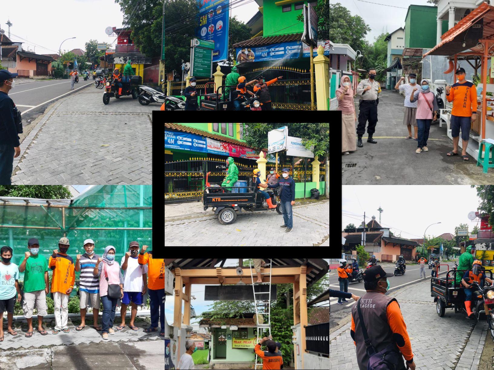Kerjabakti Kesiapsiagaan Bencana Covid-19 Berbasis Kampung di Kampung Pilahan