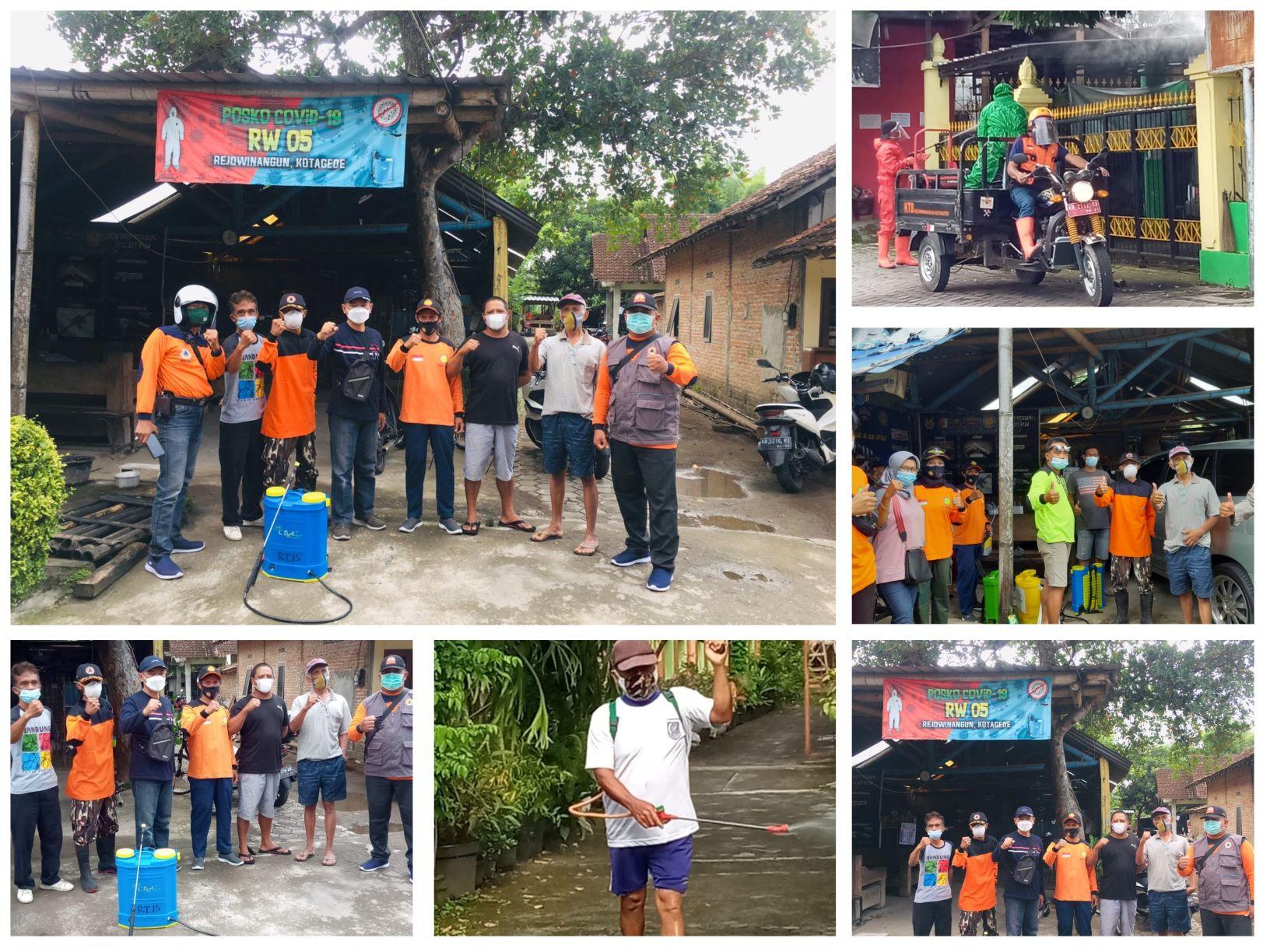Kerjabakti Kesiapsiagaan Bencana Covid-19 Berbasis Kampung di Kampung Gedongkuning