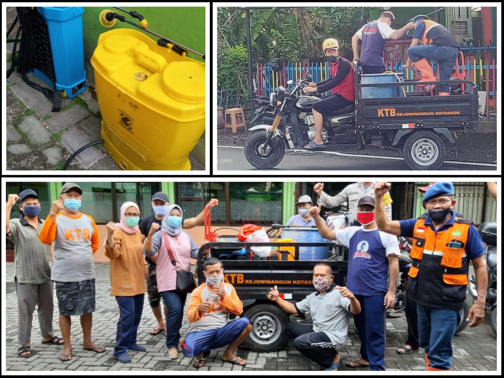 Kerjabakti Kesiapsiagaan Bencana Covid-19 Berbasis Kampung di Kampung Rejowinangun