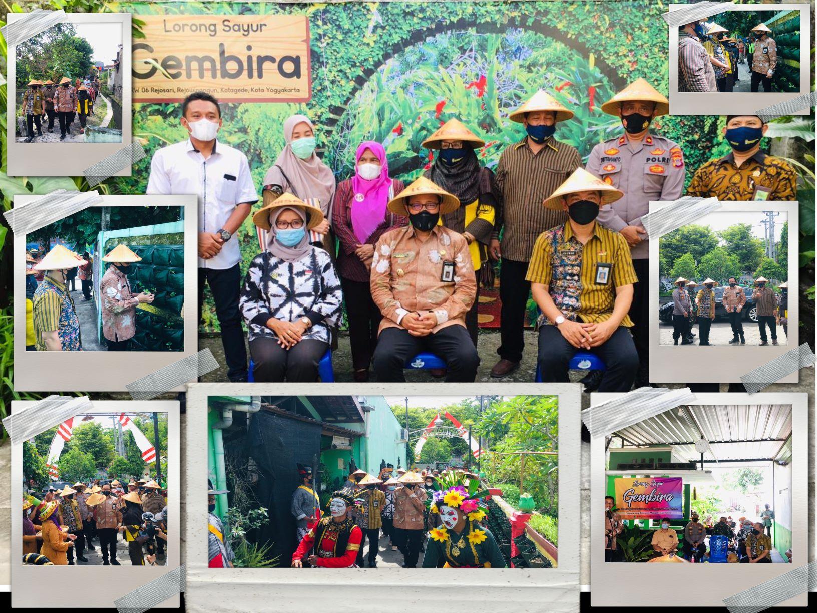 Penanaman Perdana di Kelompak Tani Lorong Sayur Gembira oleh Bapak Wakil Walikota Yogyakarta