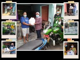 Distribusi Bantuan Sembako SAPDA di Wilayah Rejowinangun