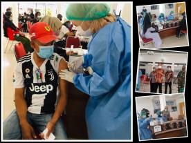 Pelaksanaan Vaksinasi Tahap ke 2 Warga Kelurahan Rejowinangun di Pendopo Kemantren Kotagede