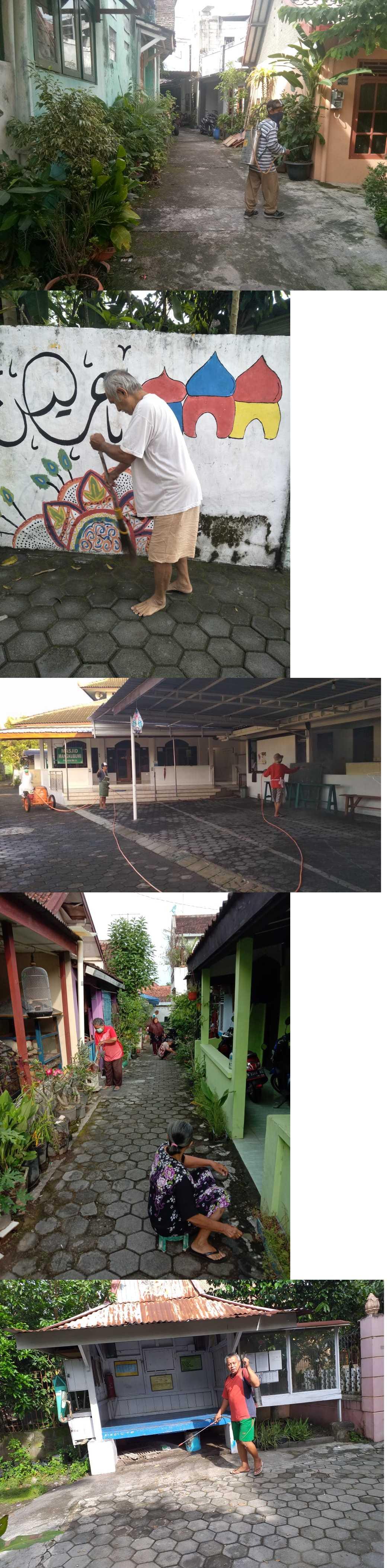 Bersih bersih secara mandiri RT di wilayah Rejowinangun