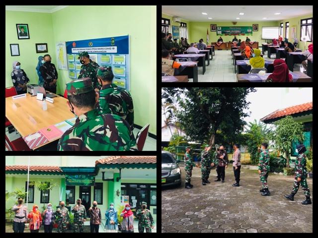 Kunjungan Wasev Kodam IV Diponegoro dan Komandan KODIM 0734 ke Posko PPKM Miro Kel.Rejowinangun