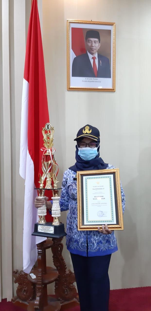 Penghargaan Harapan Satu Lomba Evaluasi Perkembangan Kelurahan Tingkat Kota Yogyakarta