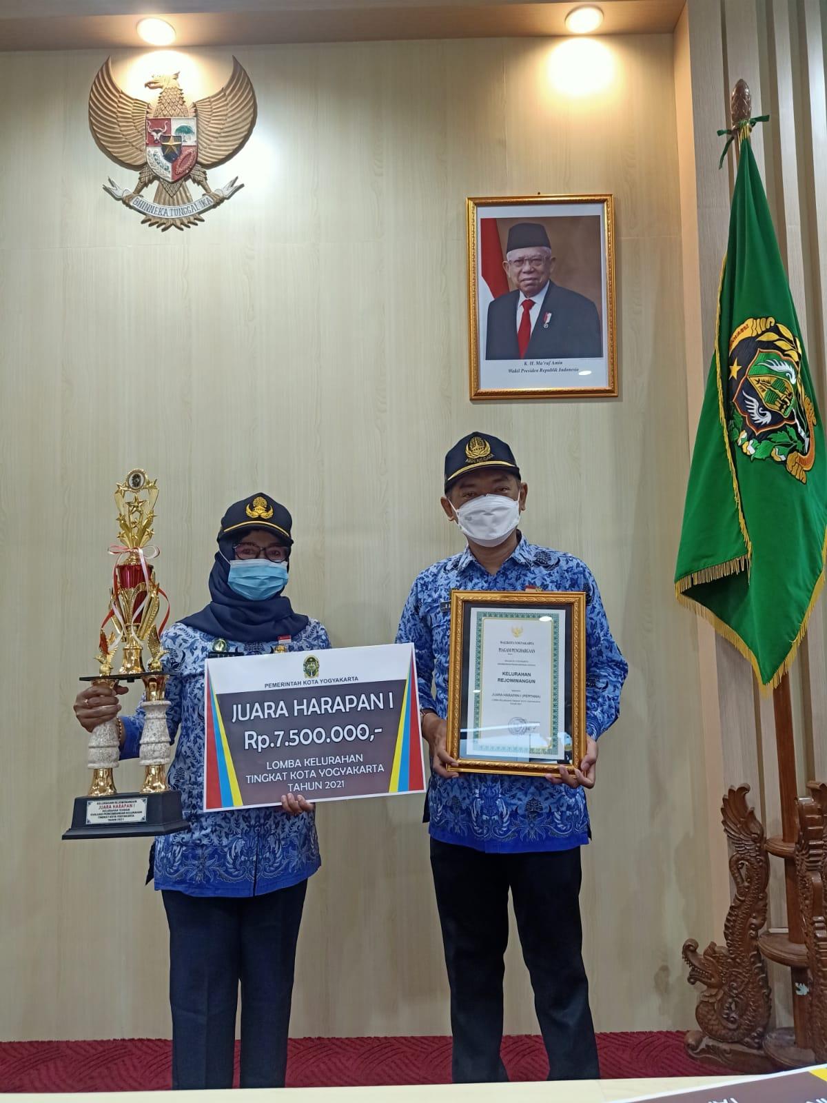 Penghargaan Harapan Satu Lomba Evaluasi Perkembangan Kelurahan Tingkat Kota Yogyakarta-1