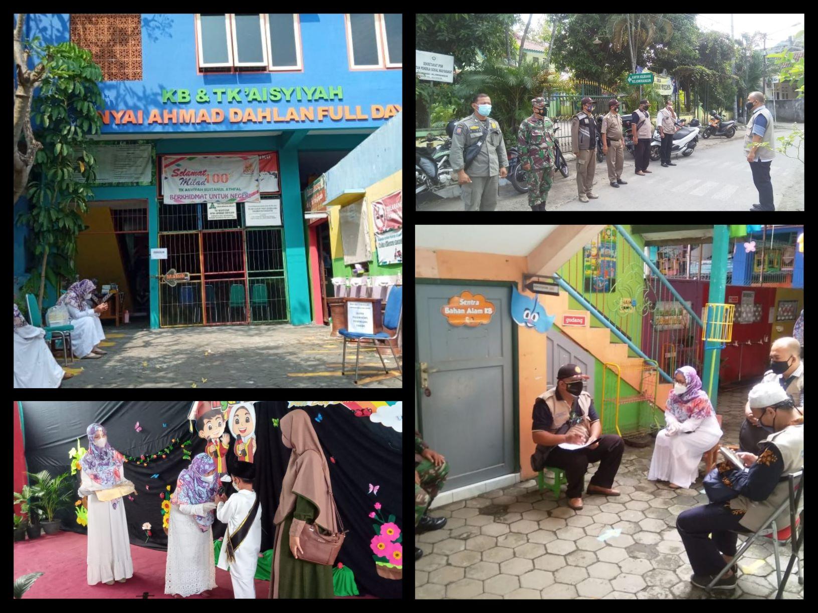 Monitoring Keramaian Kegiatan Aktivitas Sosial Pelepasan Siswa TK Aisyiyah NYI Ahmad Dahlan  Pilahan RT 44 RW 13 Rejowinangun Kotagede-1